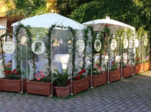 Giardino esterno,matrimonio ,