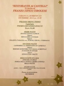 8-9 dicembre pranzo tirolese